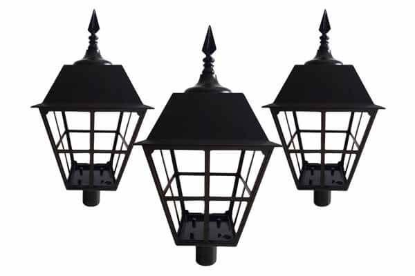 Cast Aluminum Garden Lamp Housing