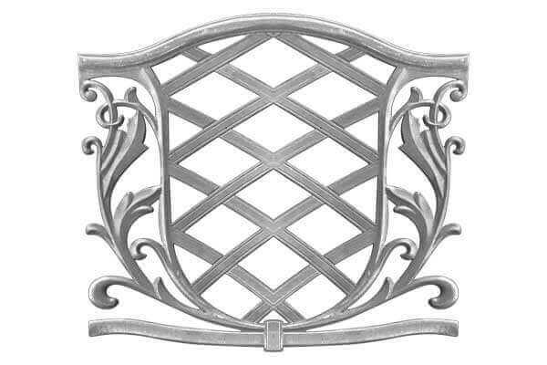 Cast Aluminum Garden Chair Back 1