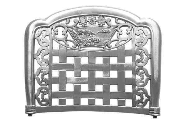Cast Aluminum Garden Chair Back 3